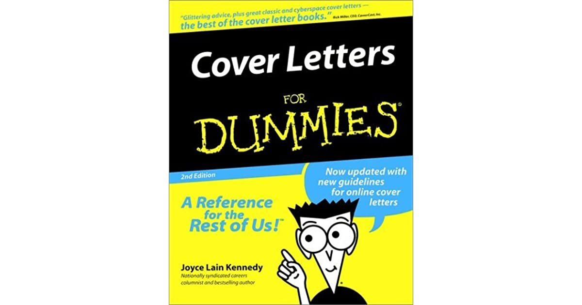 Cover Letters For Dummies By Joyce Lain Kennedy Reviews