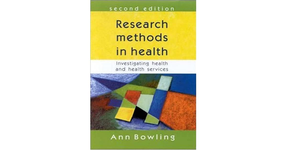 research methods in health investigating health and health services pdf