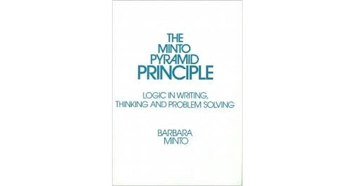 the pyramid principle logic in writing and thinking pdf