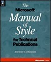 Microsoft manual of style for technical publications online