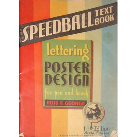 Speedball Text Book Lettering Poster Design For Pen Or