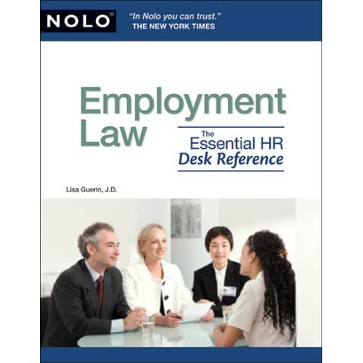 Employment Law The Essential Hr Desk Reference By Lisa