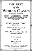 The Best Of The World's Classics (Restricted To Prose) Volume X
