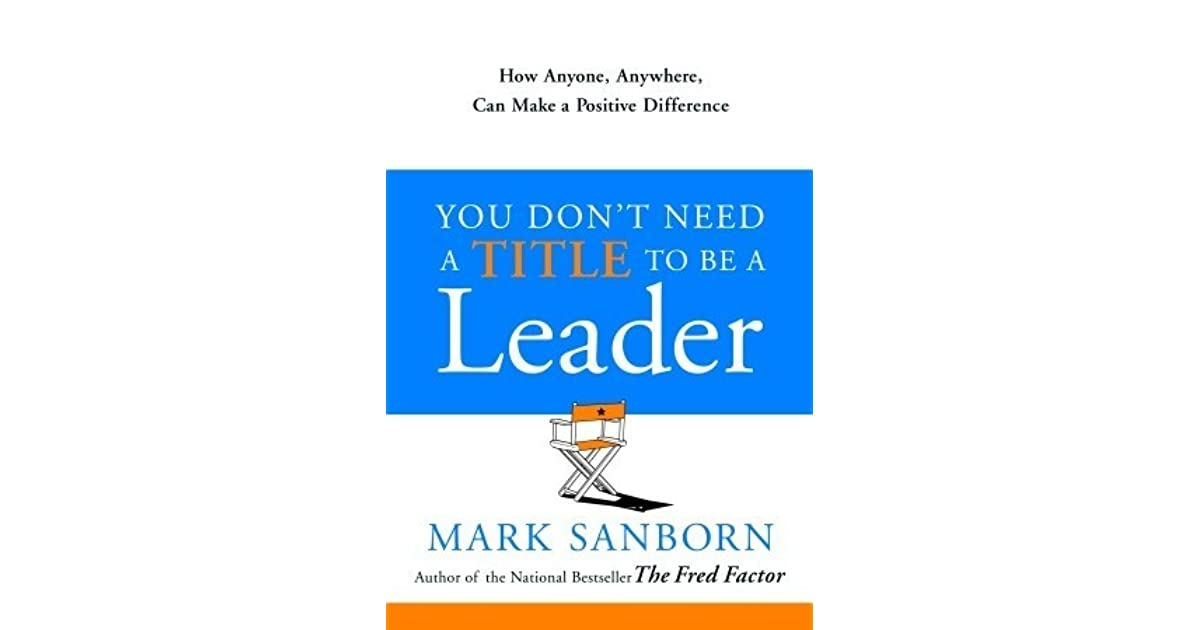 Need title to be leader book