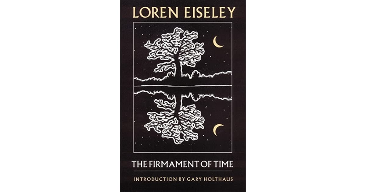 loren eiseley firmament of time 1960 181 pages blue jacket covering red cloth boards with black lettering pages are slightly yellowed with light staining to the front endpaper binding is firm with very light corner.