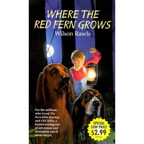 RED FERN GROWS THE WHERE BOOK
