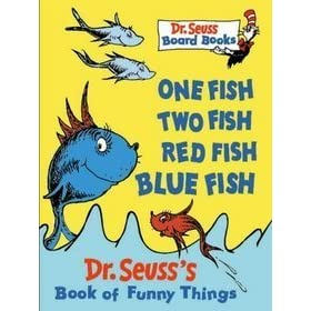 One fish two fish red fish blue fish dr seuss 39 s book for Blue fish book