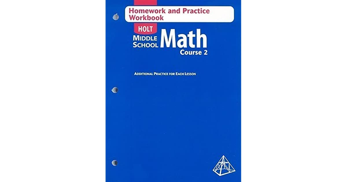 Holt Middle School Math Homework and Practice Course 2 by Holt – Holt Middle School Math Worksheets
