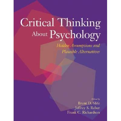 critical thinking assumptions test The leading critical thinking test used to assess and develop decision making  skills and good judgment qualification level: a watson-glaser™ ii critical.