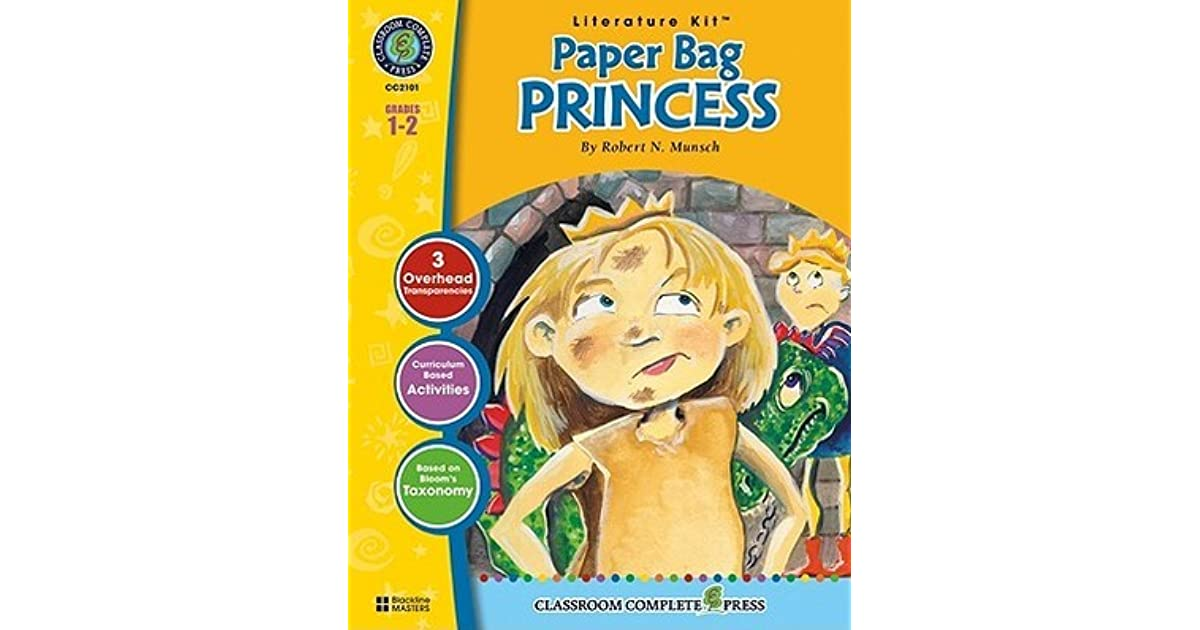 Paper Bag Princess Book Cover : Paper bag princess literature kit by marie helen goyetche