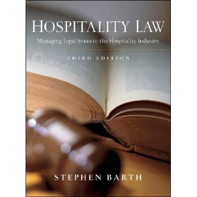 Hospitalty Law Managing Legal Issues  Hospitality