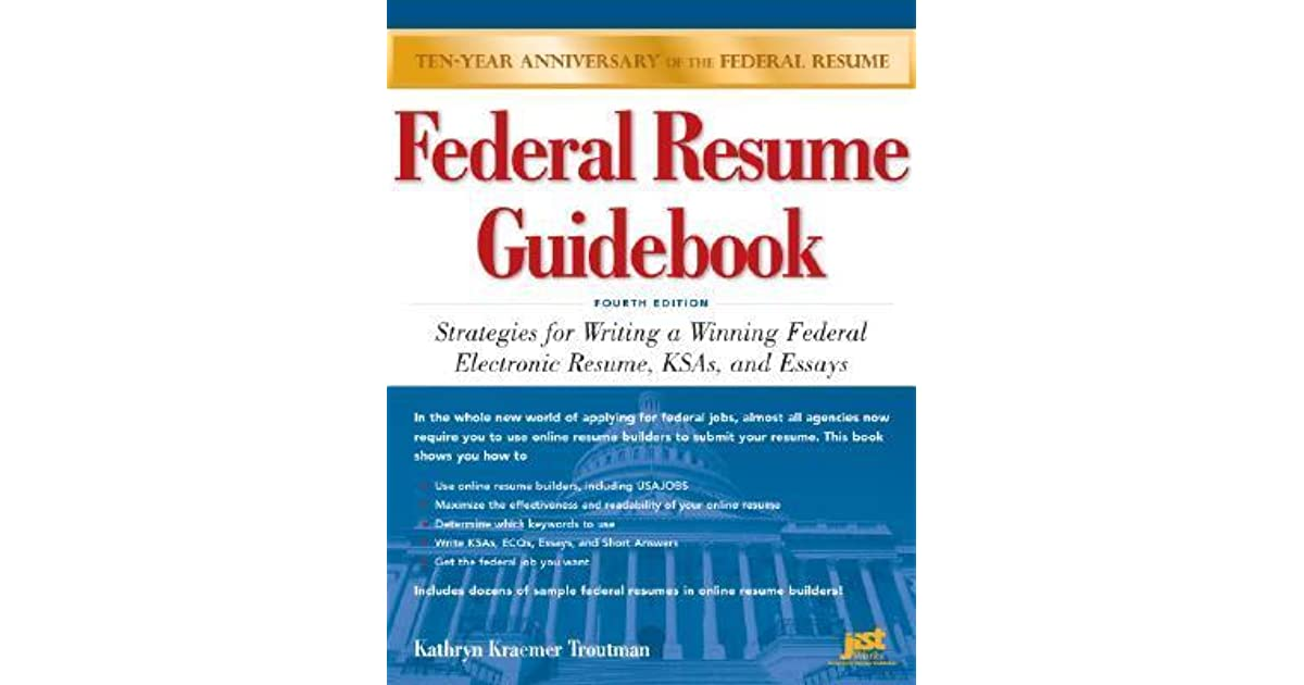 federal resume guidebook strategies for writing a winning