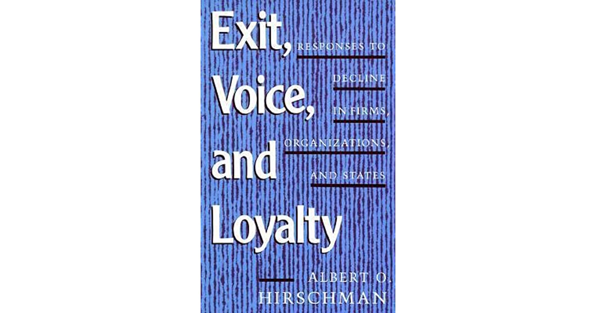 albert hirschman exit voice and loyalty pdf