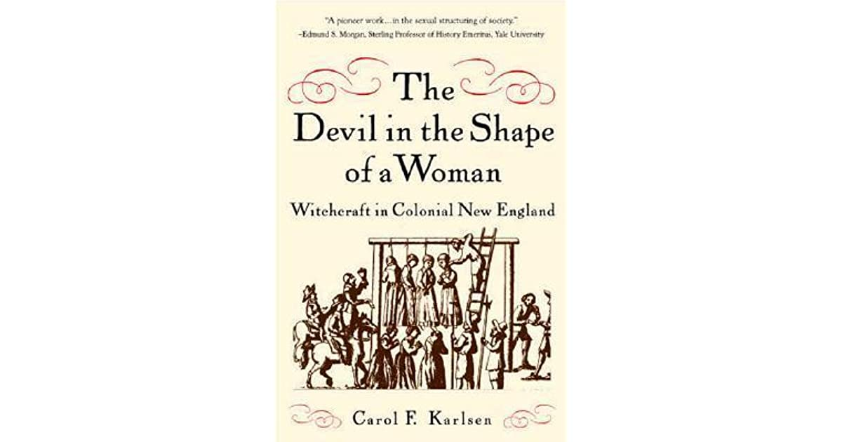 the devil in the shape of [t]he devil appeared to her in the shape of a young black man, winding, by her  bed side, which spoke to her with a hollow voice, and came into.