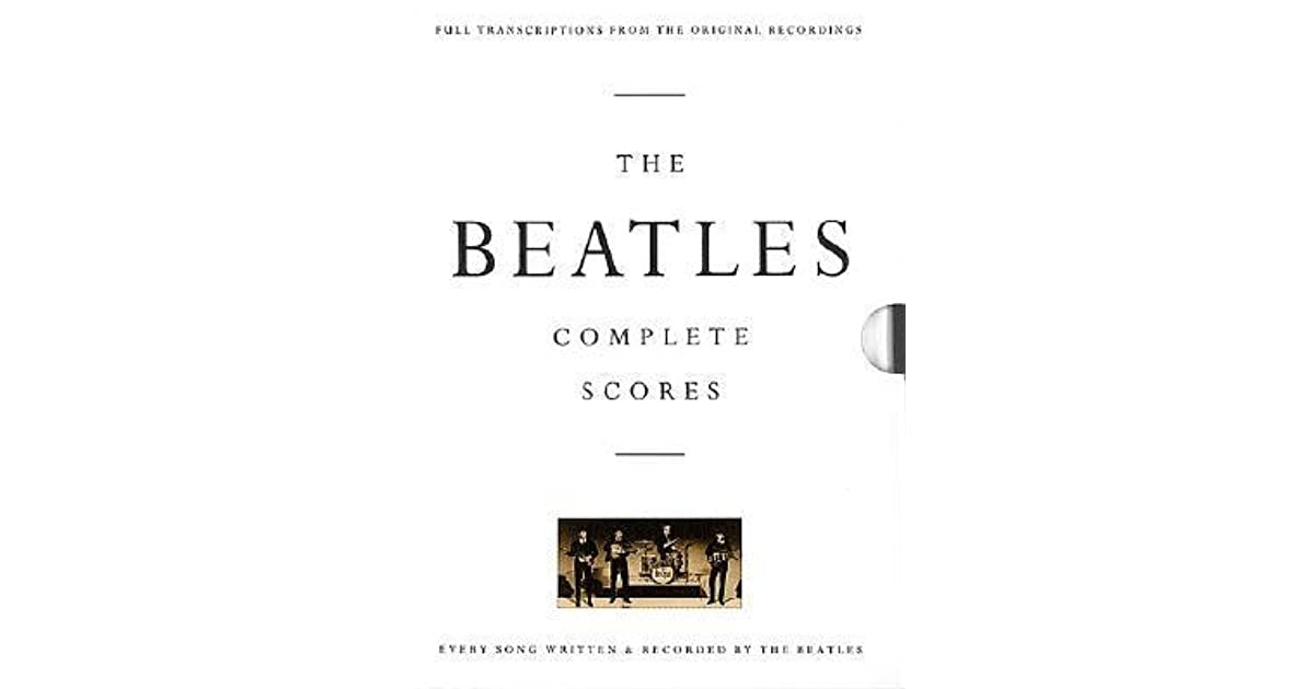 the beatles complete scores by hal leonard publishing company reviews discussion bookclubs. Black Bedroom Furniture Sets. Home Design Ideas
