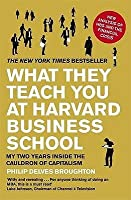 What They Teach You At Harvard Business