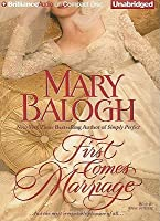 First Comes Marriage (Huxtable Quintet, #1)