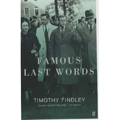 a literary analysis of the literature by timothy findley Timothy findley was born 30 october 1930, and died 21 june 2002 five quotes literature was intended to be dangerous – art was meant to be dangerous – ideas were nothing if they were not.