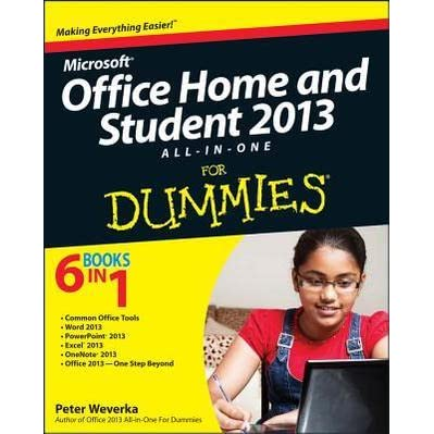 office home student 2013 all in one for dummies by peter. Black Bedroom Furniture Sets. Home Design Ideas