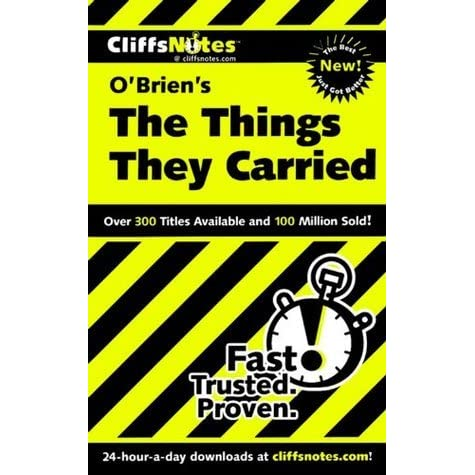 a review of tim obriens book the things they carried Plot summary of the things they carried by tim  the free the things they carried notes include comprehensive information and analysis to help you understand the book.