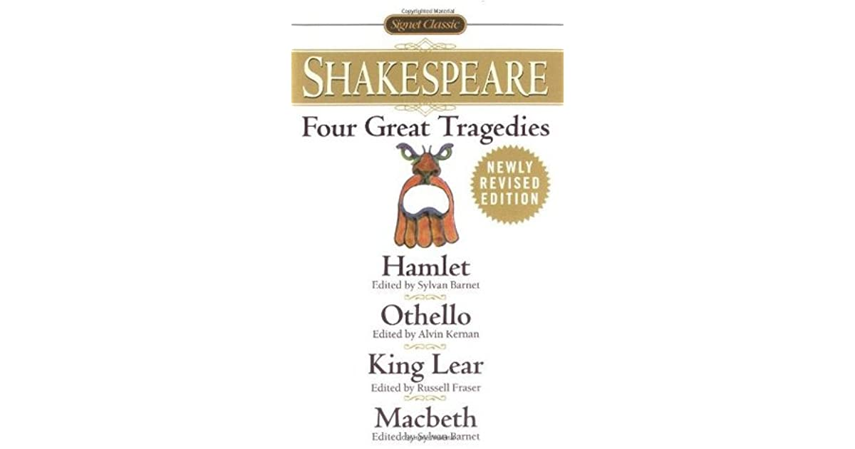 what are the four great tragedies of william shakespeare