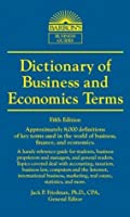 Dictionary of Business and Economic Terms (Barron's Business Dictionaries)