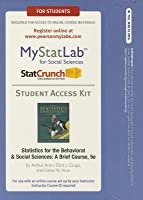 New Mystatlab with Pearson Etext -- Standalone Access Card -- For Statistics for the Behavioral and Social Sciences: A Brief Course