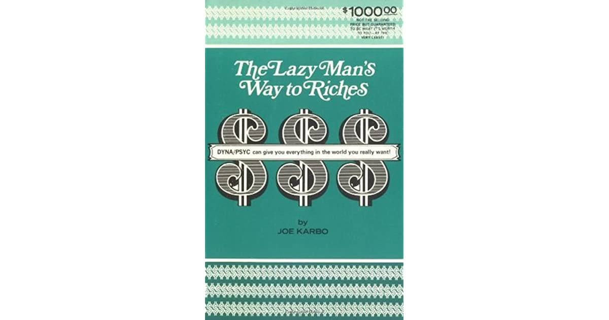The Lazy Man's Way to Riches Book by Joe Karbo 1973