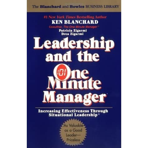 the one minute manager essay One minute manager - management essay example one minute manager is a short story written by kenneth blanchard and spencer johnson - one minute manager.