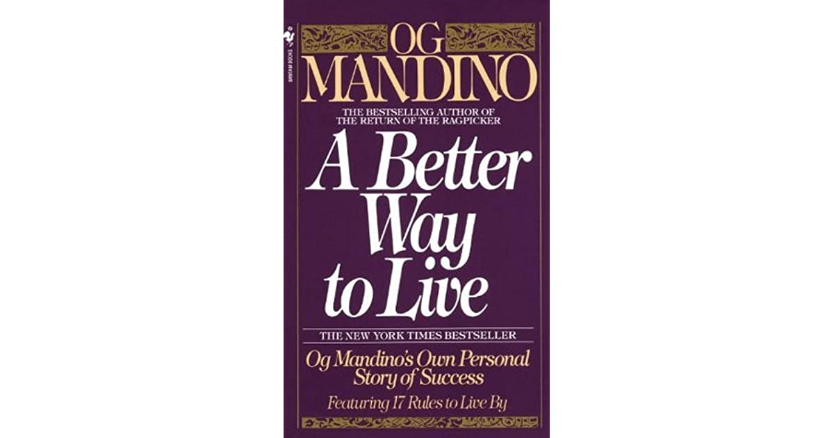a better way to live og mandino pdf