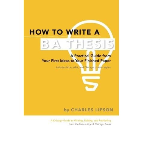 How to write a ba thesis lipson