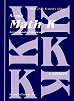 Saxon Math K Home Study Teachers Manual First Edition