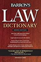 Law Dictionary, (Trade) 6th Ed (Barron's Law Dictionary (Quality))