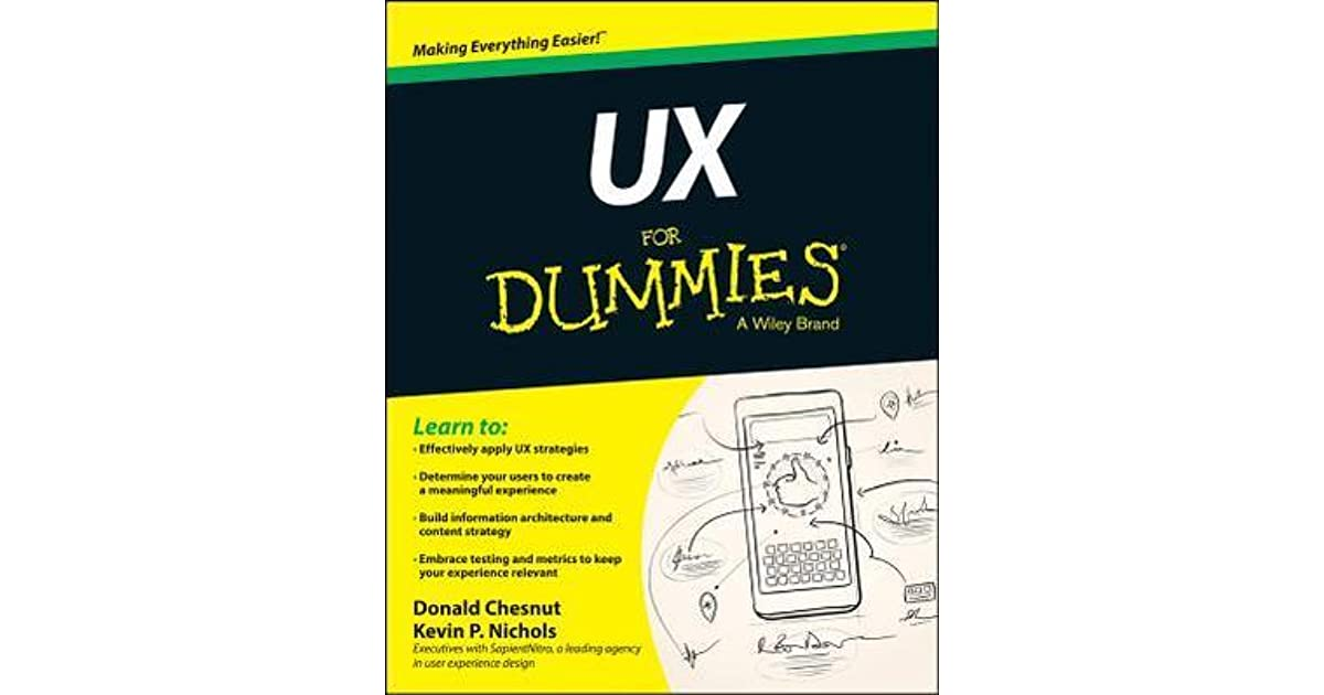 Ux for dummies by kevin nichols reviews discussion
