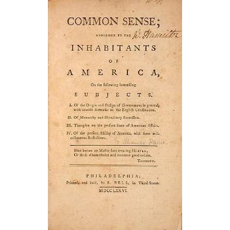 quick summary of thomas paines common Thomas paine's common sense – a close reading guide from america in class 2 common sense appeared as a pamphlet for sale.