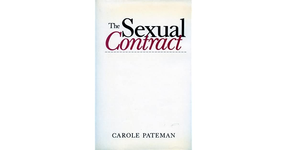Carole pateman the sexual contract