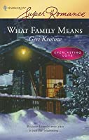 What Family Means