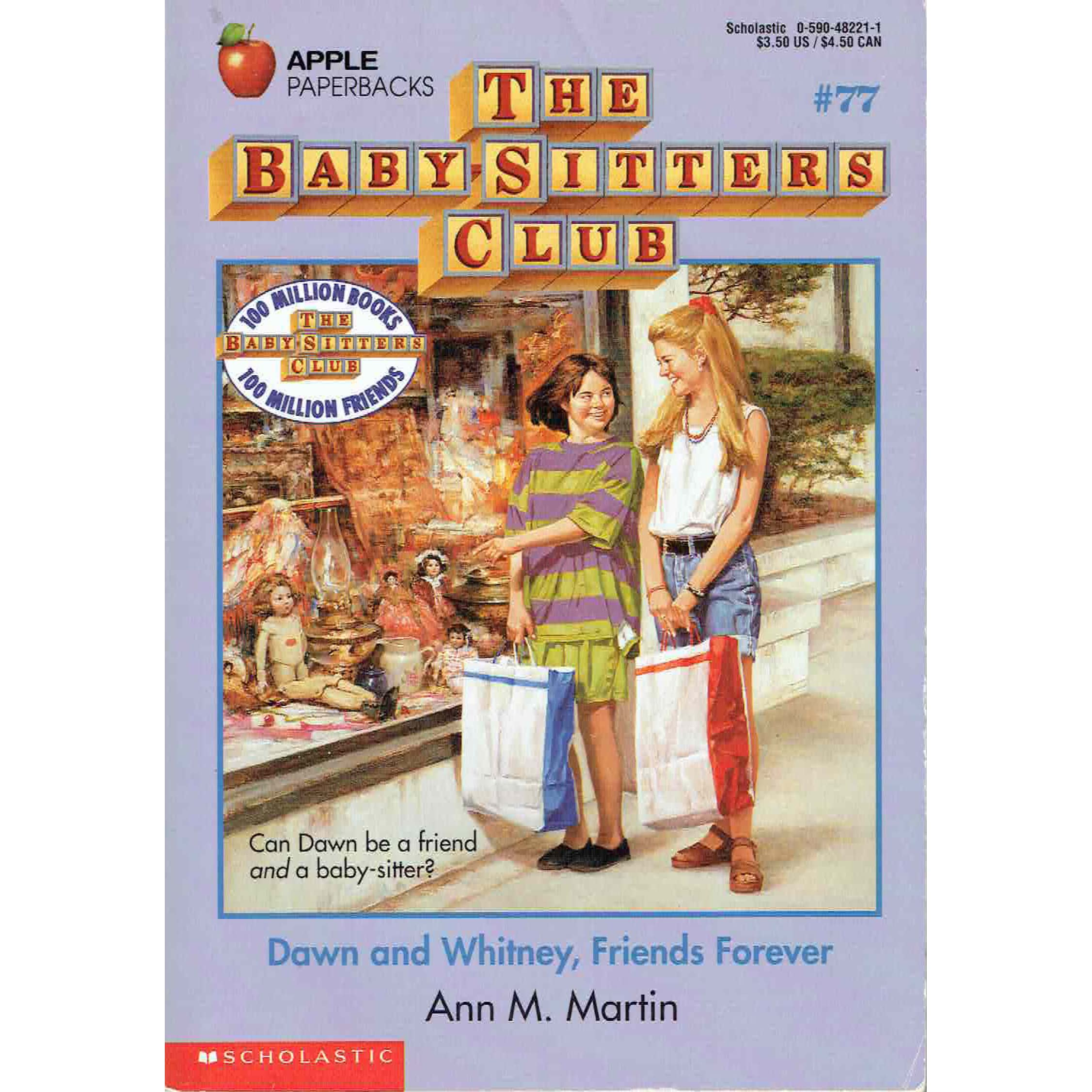 dawn and whitney friends forever the baby sitters club by dawn and whitney friends forever the baby sitters club 77 by ann m martin reviews discussion bookclubs lists