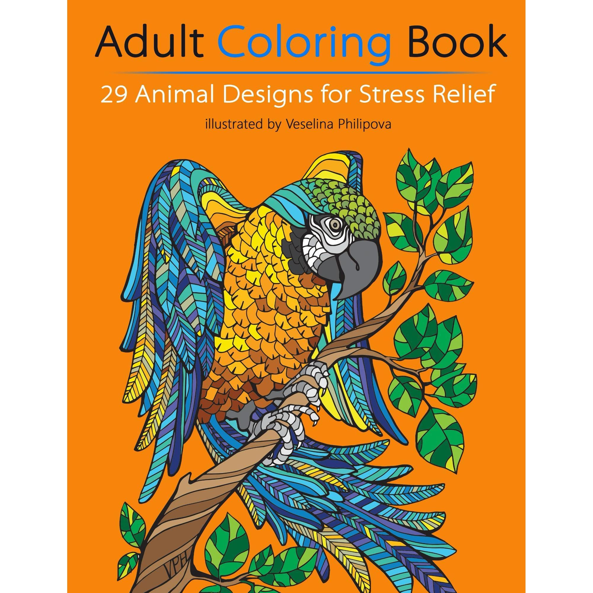 Book Giveaway For Adult Coloring Book 29 Animal Designs For Stress Relief By Rangel Stoilov Feb