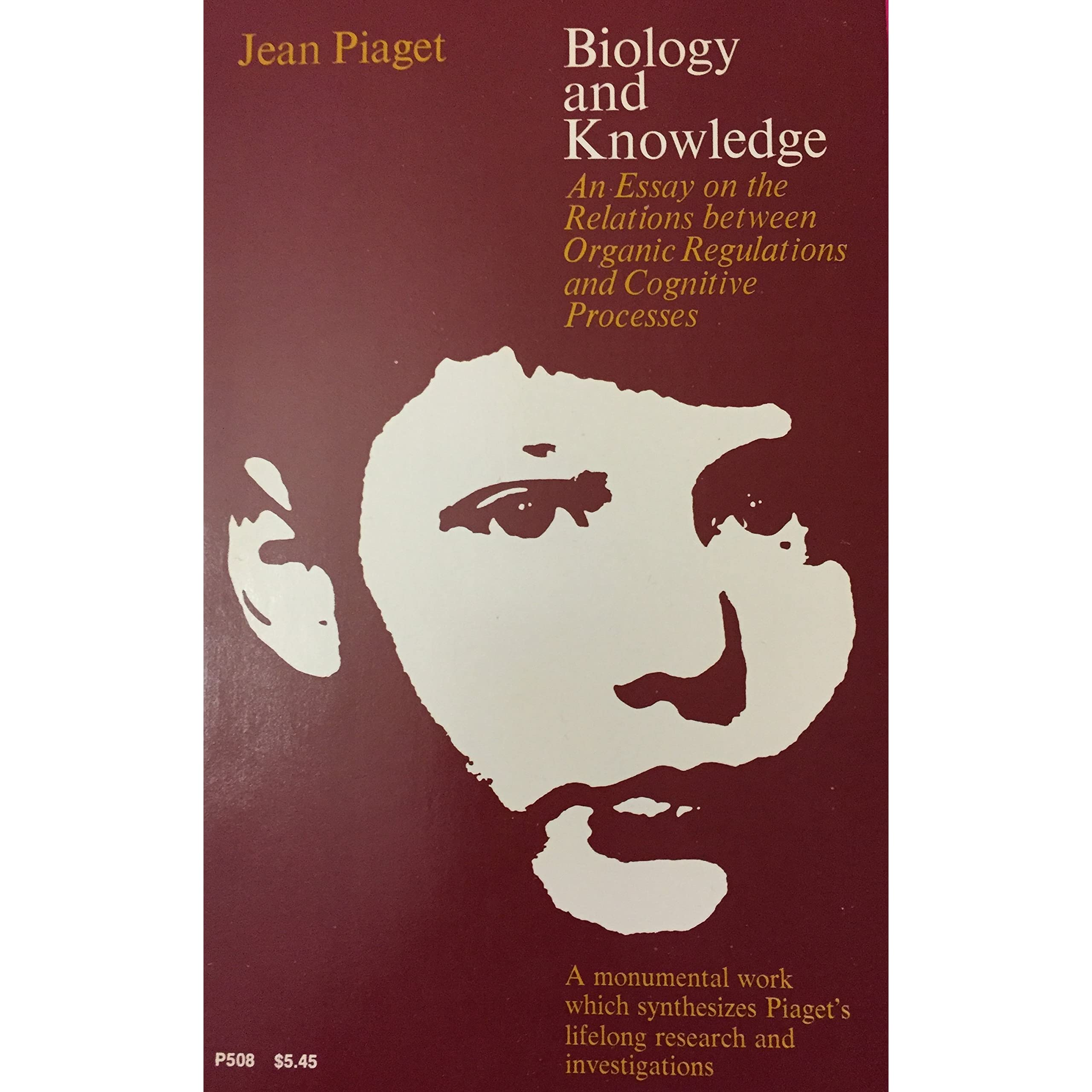 biology and knowledge an essay on the relations between organic biology and knowledge an essay on the relations between organic regulations and cognitive processes phoenix books p508 by jean piaget reviews