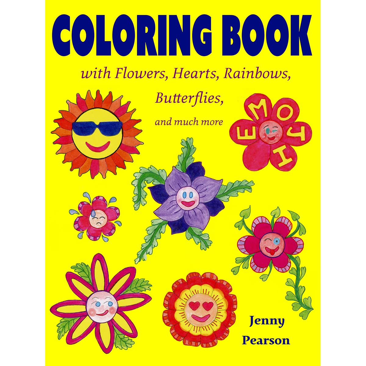Book Giveaway For Coloring Book With Flowers Hearts