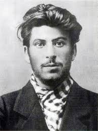 stalin as a young man, with rakish hair