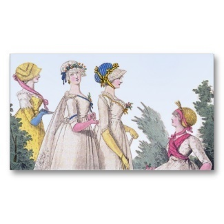 Regency Fashion Custom Personal Calling Cards Business Card