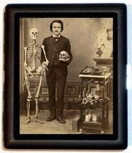 Poe with Skeleton