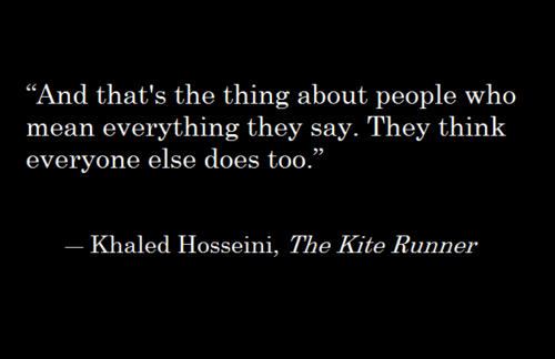 amir s character development in khaled hosseini s Kite runner thesis proposal - he took care of show that a character's inability to escape the difficulties of his/her past contributes to the ultimately redemption is the goal thesis: in the novel, the kite runner by khaled hosseini, amir is always looking to redeem himself.