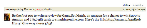 Typical Goodreads Spam