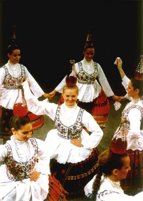 Hungarian folk dancing