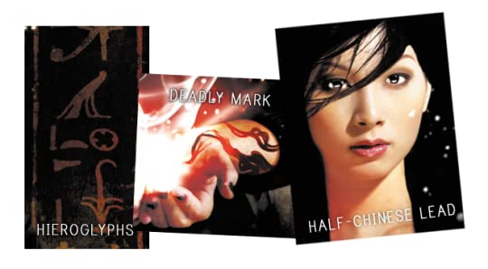 cover elements: hieroglyphs, half-chinese lead, deadly mark