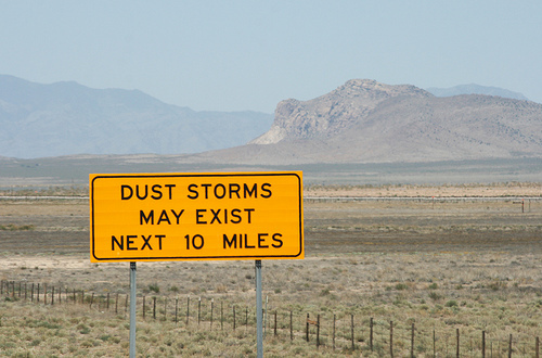 Dust storms may exist
