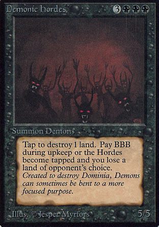 Magic Card – Demonic Hordes